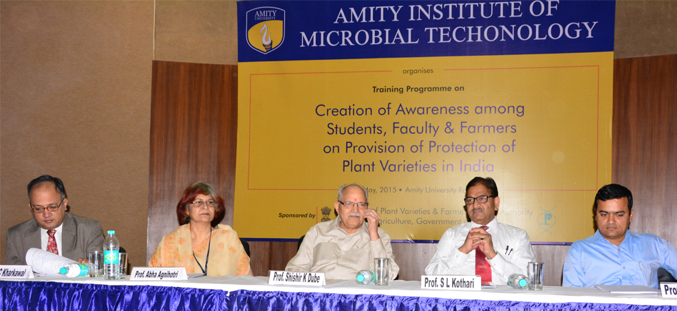 Protection of Plant Varieties, Farmers Rights & Creation of Awareness among students, fac
