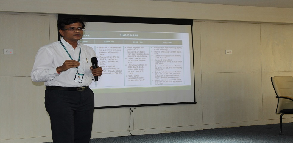 "A Lecture on ""Banking & Investments"" by Sri Rabinaryan Patra (DGM-IDBI Bank Ltd)"