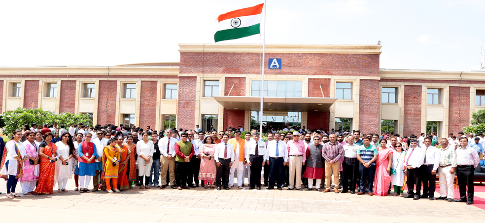 Amity University Madhya Pradesh Celebrates 71st Independence Day on 15th August, 2017