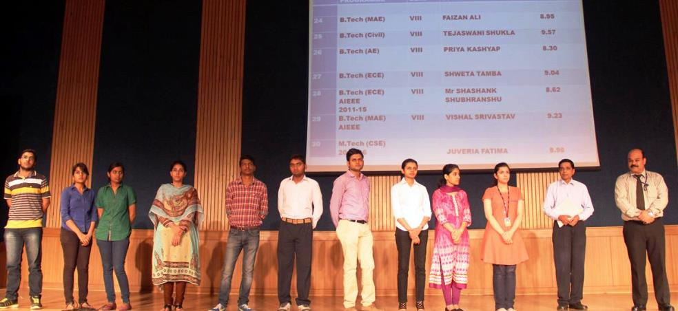 FELICITATION CEREMONY FOR TOPPER'S 2014-15