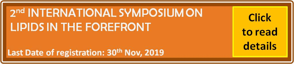 2nd International Symposium on Lipids in the Forefront: A Lot More to Discover