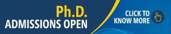 Ph.D. Admissions Open