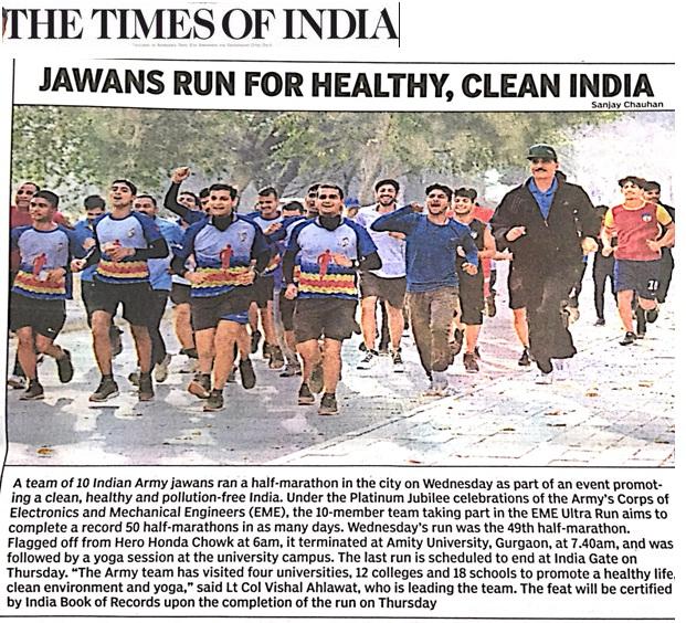 Jawan runs for Healthy Clean India