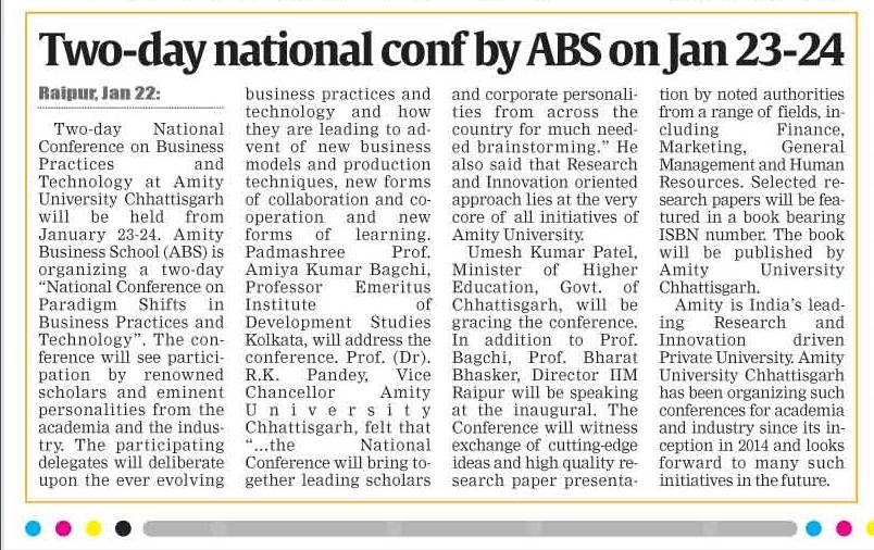 Two-day national conference by ABS
