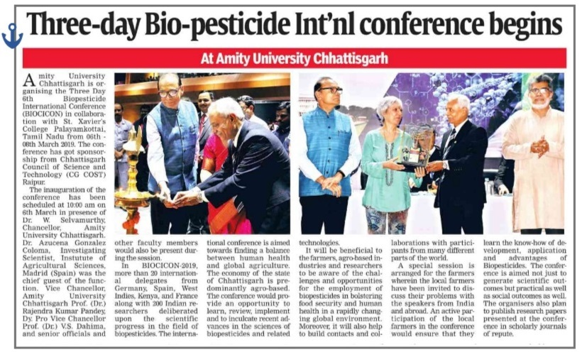 03 Days International Conference in Bio Pesticide