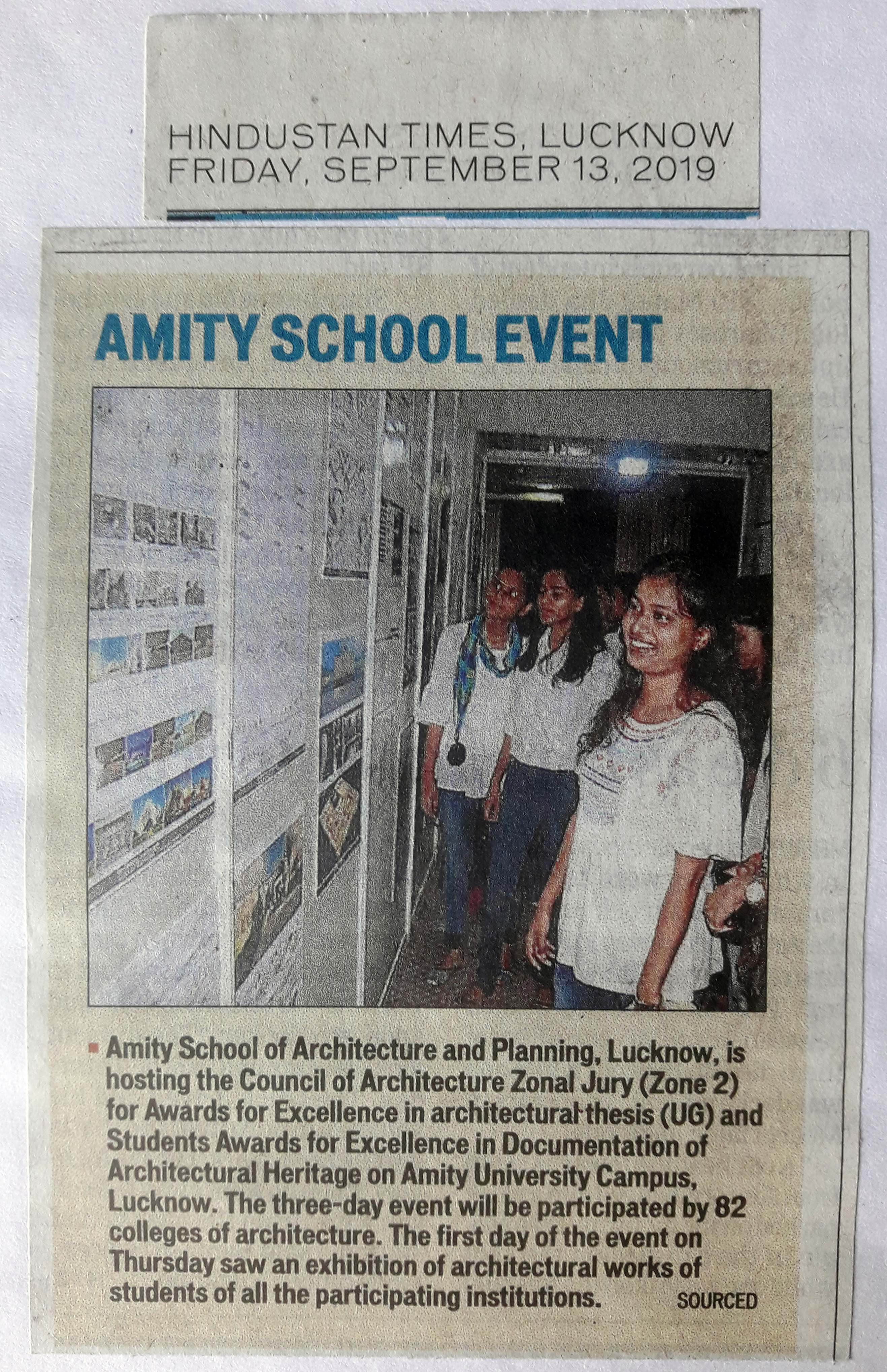 Amity University hosted Council of Architecture Zone 2 Awards and Exhibition