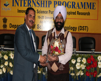 Prof. (Dr.) M P Kaushik, Pro-Vice Chancellor, AUMP welcoming to Dr. M. S. Marwaha, Department of Physics, Punjab University, Chandigarh