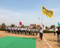 Student March Past during the inaugural session of AAROH -2017