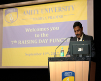 Prof. (Dr.) M P Kaushik, Pro-Vice Chancellor, AUMP proposing Vote of Thanks