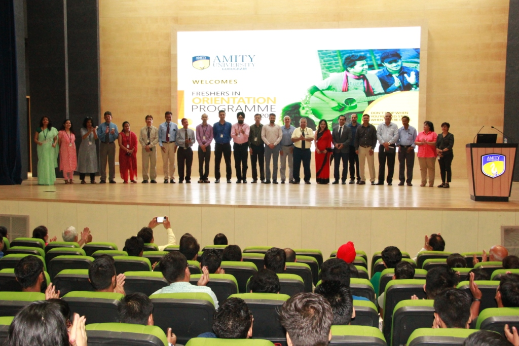 Amity dignitaries during the Orientation session