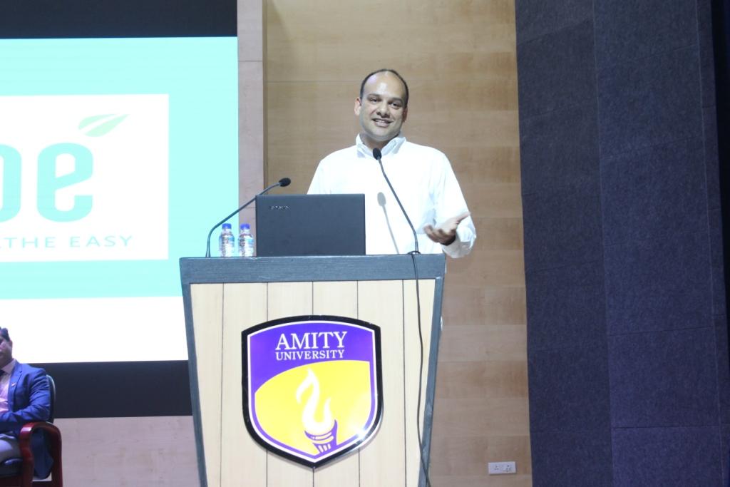 Mr Barun Aggarwal, CEO Breath Easy Lab addressing audience