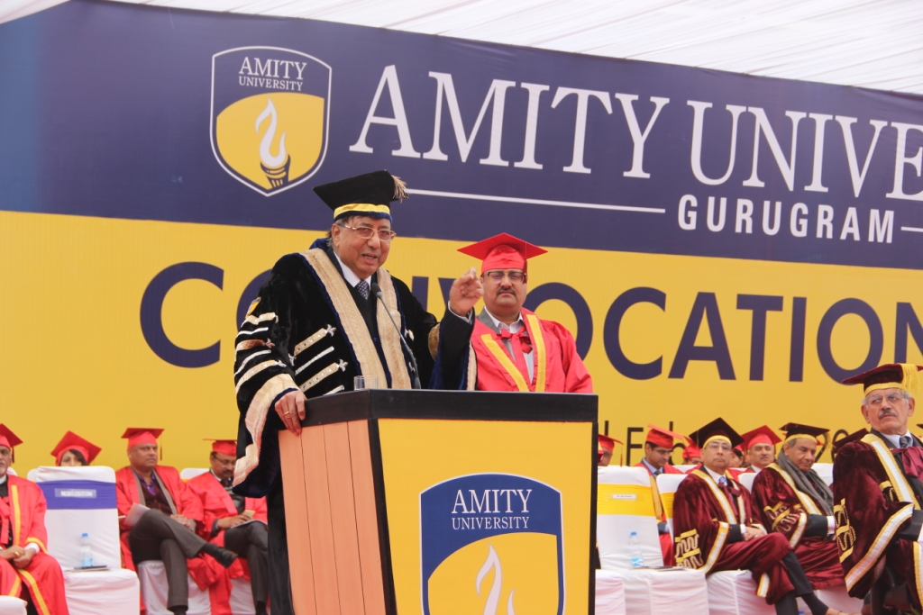Honorable Founder President Amity Education Group, Dr Ashok K Chauhan sharing his words of wisdom