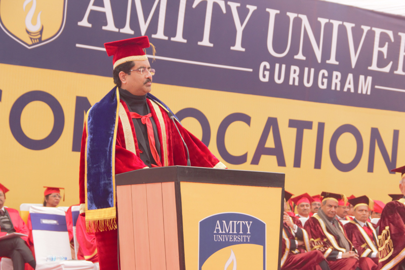 Shri Kumar Manglam Birla, Chairman, Aditya Birla Group addressing the students at Amity University Haryana