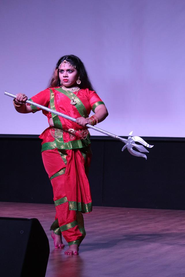 Student performing cultural program