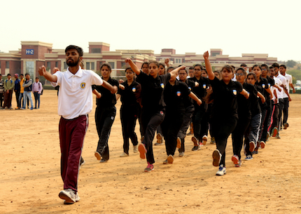 March past by the students during the inaugural session of youth fest