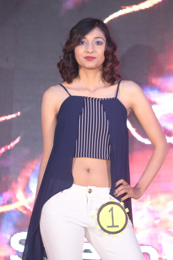 Participants of fashion show during Ramp Walk