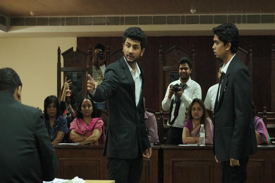 Amity School of Law students at MOOT Court Competition