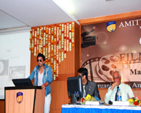 Mr Himansh Kohli addressing the gathering