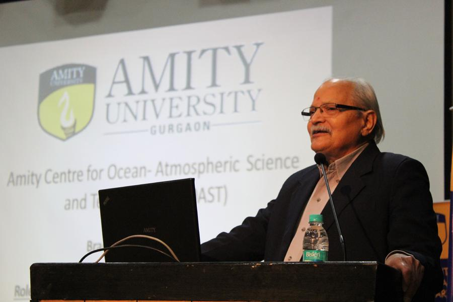 Prof. (Dr.) S.K. Dube, Vice Chancellor, Amity University Rajasthan (AUR) Addressing the gathering
