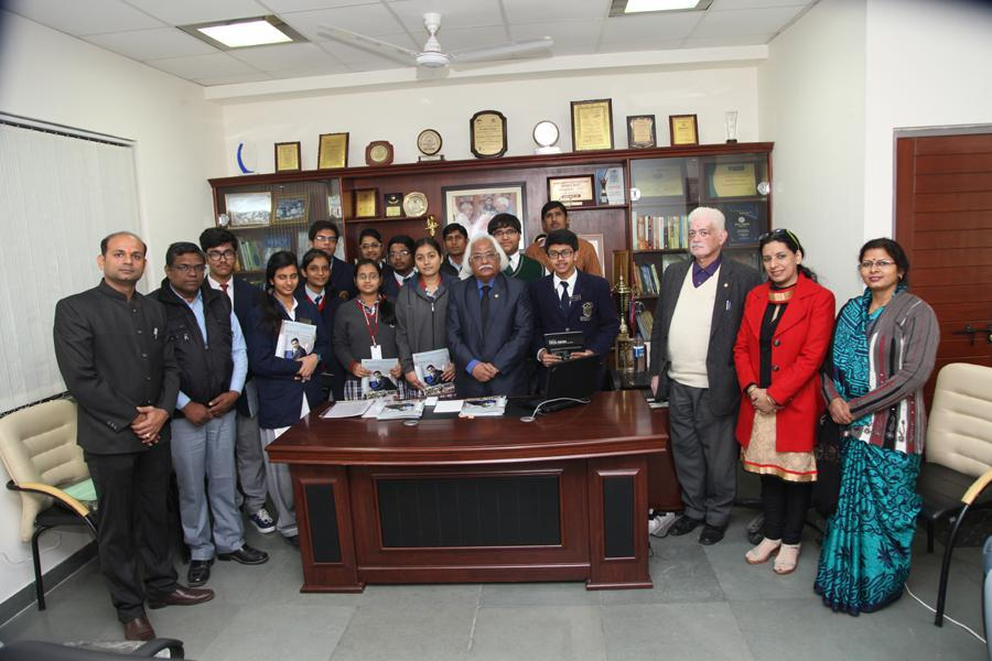Hon'ble VC Prof P B Sharma with Team & Students of AUG