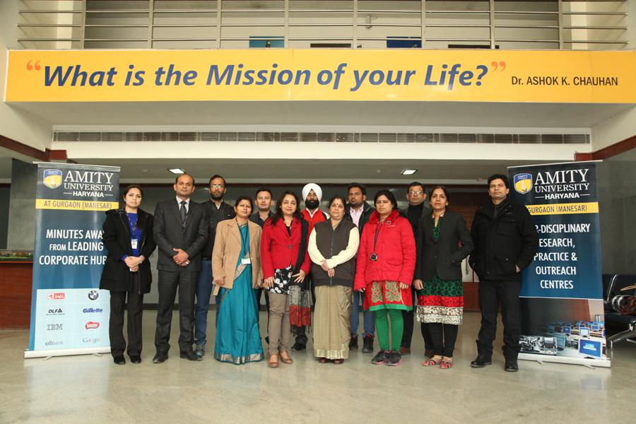 Delegates from different Schools at Amity University Gurgaon at Inspire Event 2014
