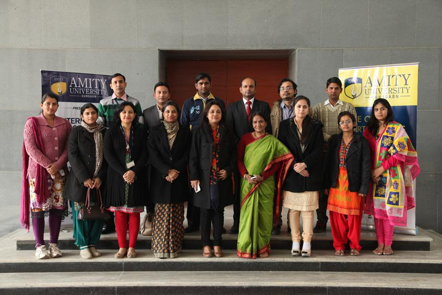 School Coordinators in Group Photo with Prof(Dr) Padmakali Banerjee, Pro-VC, AUH