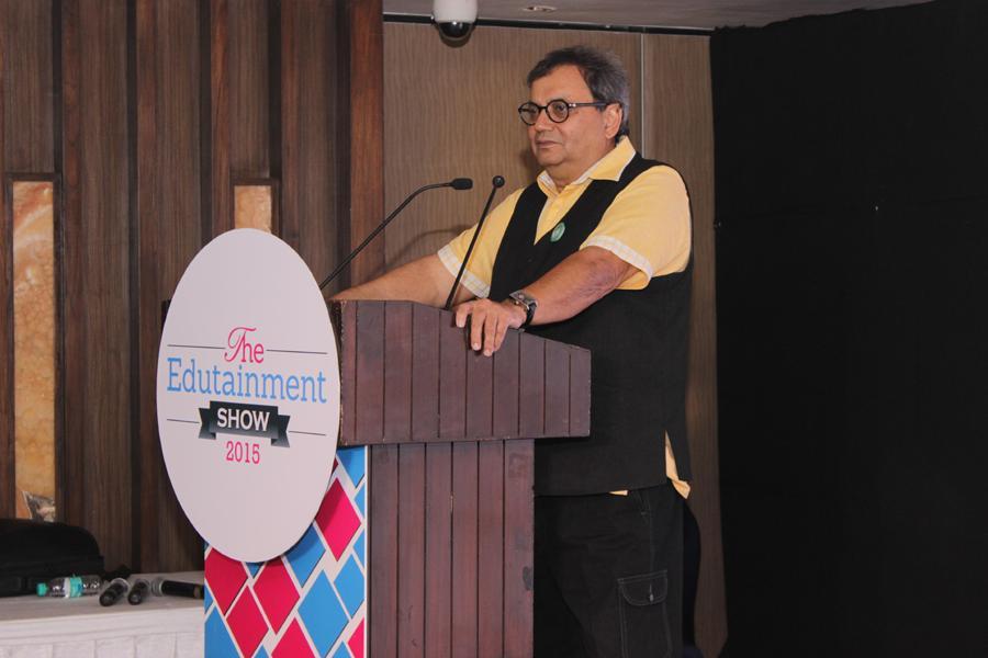 Showman Subhash Ghai Addressing at Edutainment Awards 2015