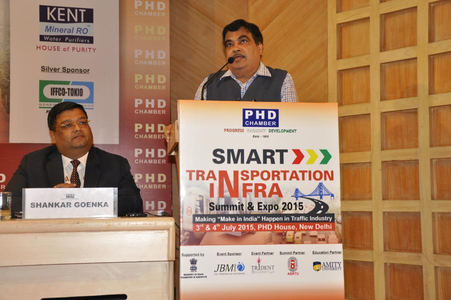 Mr Nitin Gadkari Addressing the delegates