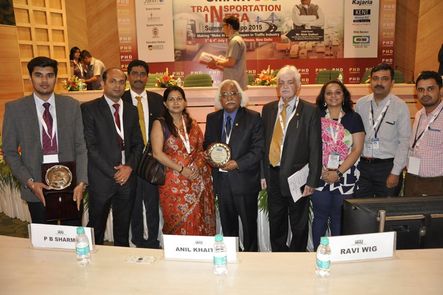 Amity University Gurgaon Team with Best Private University in Engineering Award