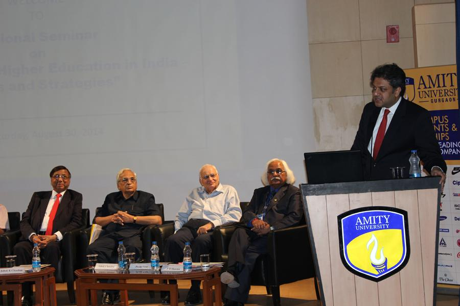 Shri Aseem Chauhan, Addl President RBEF and Chancellor in his address to the seminar