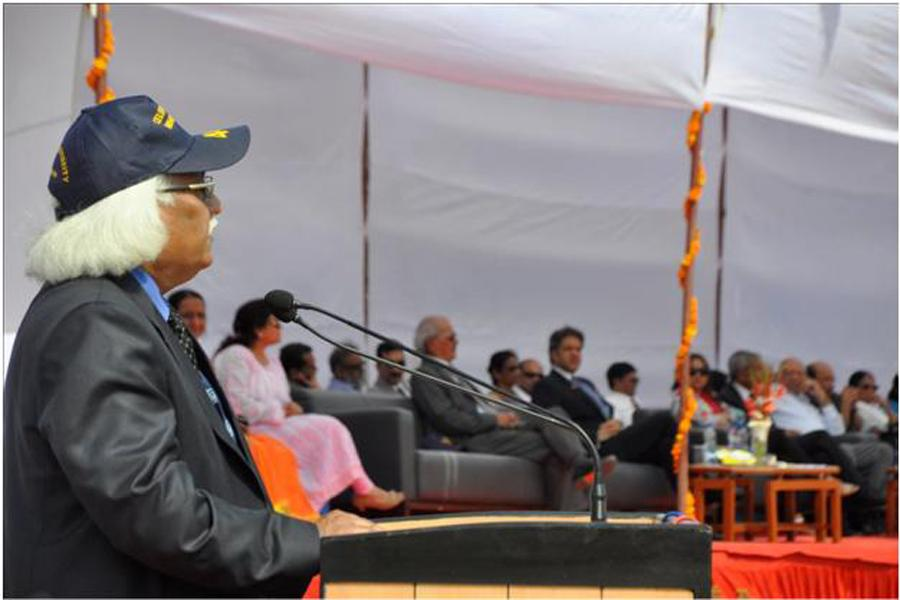Hon'ble Vice Chancellor,Prof (Dr) P B Sharma addressing the gathering
