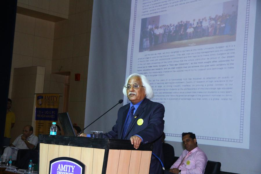 Prof Dr P B Sharma addressing Young India in Orientation Program 2015