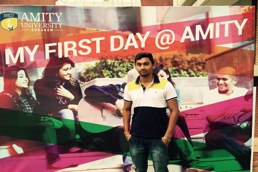 My First day@ Amity..Memories captured