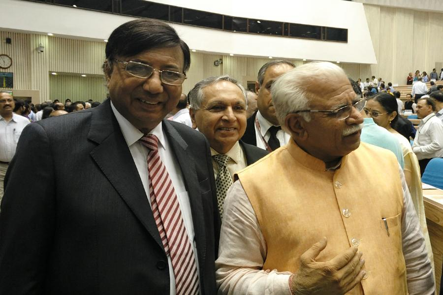 Founder President sir with Haryana CM