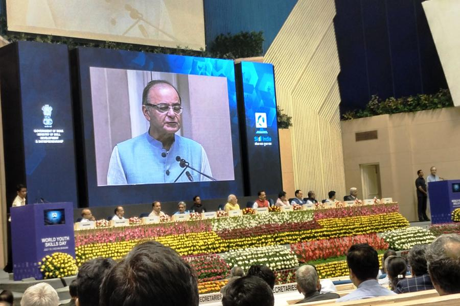 Sh. Arun Jaitley Ji delivering speech