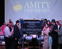 The unveiling of the Foundation Stone of the Amity International School