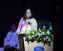 The Hon'ble Chairperson sharing her thoughts with the audience