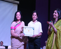 A proud Amitian with Dr Amita Chauhan and Ms Divya Chauhan