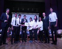 The proud winners of the Dr Ashok K Chauhan Scholarship Award with the Dignitaries