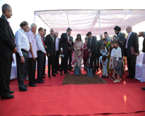 The Chairperson and Dignitaries performing the Ground Breaking ceremony of Amity International School