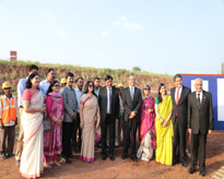 A Promising Start: Dignitaries during the Ground Breaking ceremony of Amity International School