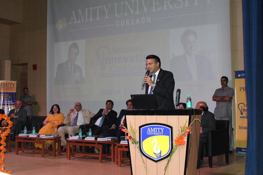 Hon'ble Chancellor AUUP Dr. Atul Chauhan Addressing