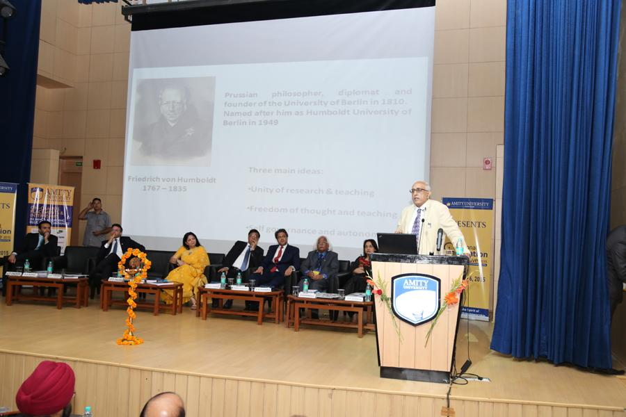 Dr. V.S. Chauhan, Chairman, Executive Council NAAC addressing
