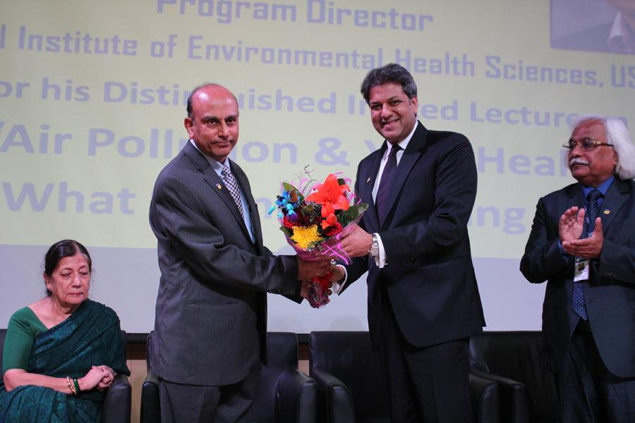 Dr.Aseem Chauhan Chancellor AUG Welcomes Dr Nadadur Program director NIEHS USA