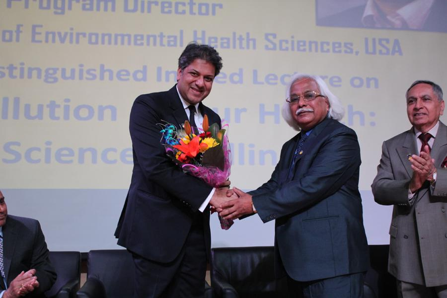 Dr. P.B. Sharma welcomes Dr. Aseem chauhan Chancellor AUG