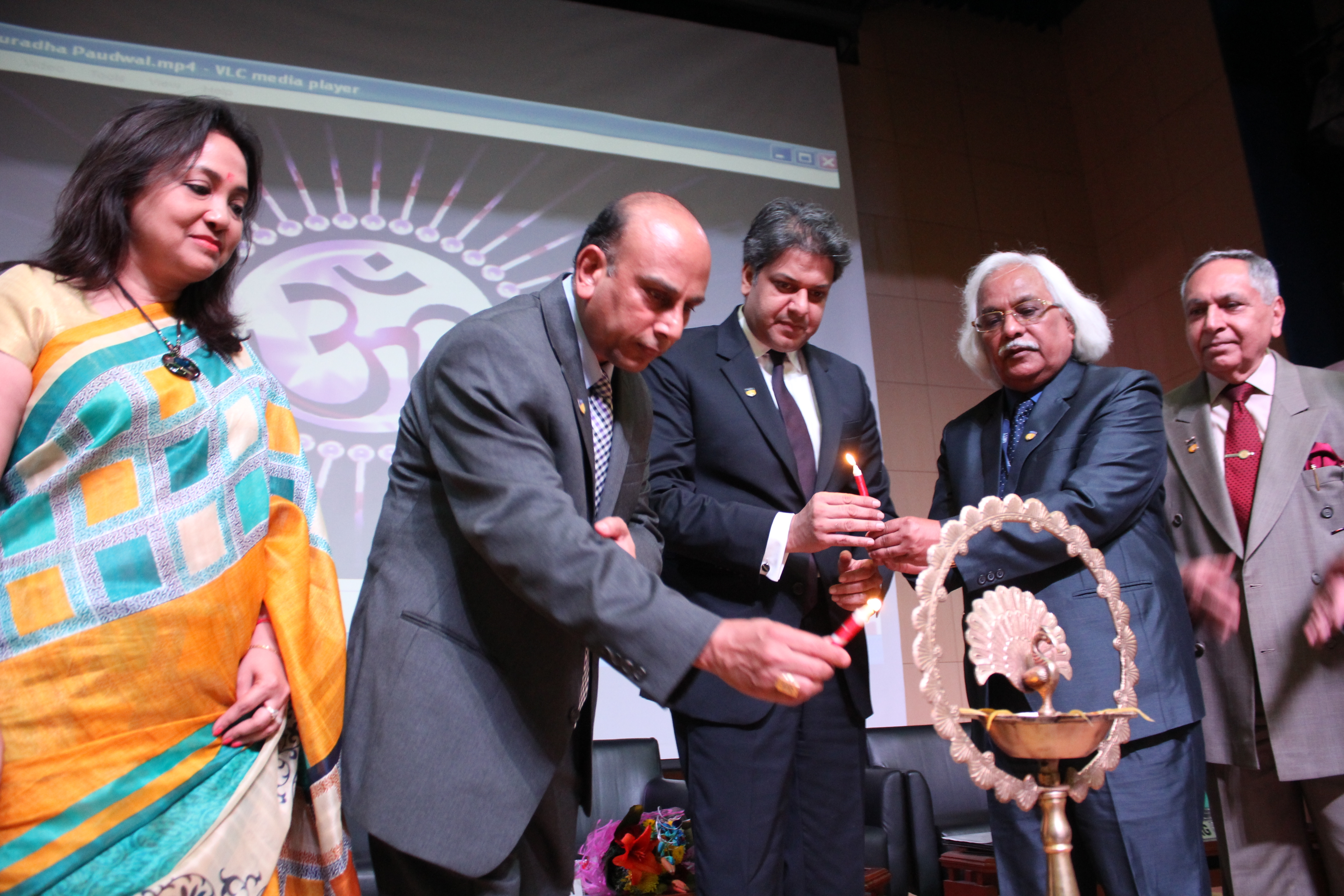Dr. Nadaur Program Director NIEHS USA lamp lighting at Amity University Gurgaon