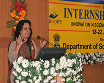 Prof (Dr) Mitali Mukerjee, Scientist, Institute of Genomics & Integrative Biology, CSIR, (Bhatnagar Awardee) speaking on Connecting Science through Genomics.