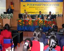 Lt. Gen V K Sharma AVSM (Retd) Hon'ble Vice Chancellor, AUMP delivering his inaugural speech.