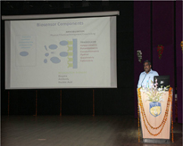 Dr. V.K. Rao, Scientist, DRDE, Gwalior delivering his talk.