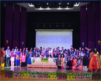 Group photo of dignitaries and organising committee of Int-BIONANO-2016 with students of AIB